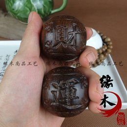 Wholesale Wooden handle a master fortune health care ball collectables autograph antique arts and crafts