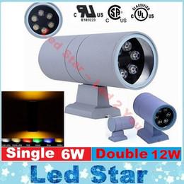 Dans la lumière conduit 6w à vendre-6W 12W Outdoor Wall Sconce LED Up Down LED mur lumière décorative Extérieur jardin moderne LED Applique AC 110-240V