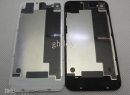 Back Cover Housing For iphone 4 Transparent Glass Battery Door Replacement Parts For iPhone4 4S 200pcs lot