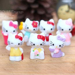 Wholesale artificial mini KT cats dolls Ornaments fairy garden miniatures toys gnome moss terrarium decor resin crafts bonsai home decor for DIY Zakka