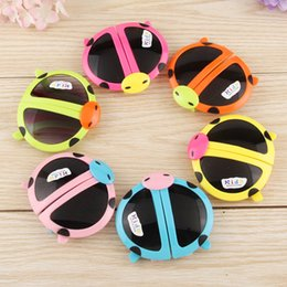 Wholesale Fashion children s Kids Cute Sunglasses Cartoons Fold The Beatles Ladybird Baby Boys And Girls Children s Sun Glasses