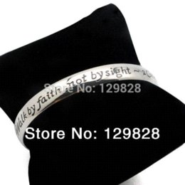 Wholesale Cheap Engraving Gifts - stainless steel jewelry Urban Glam cuff bangle bracelet fashion with engraved words Bangles Cheap Bangles