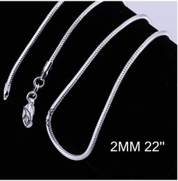 Wholesale 2MM inches promotions Price Beautiful sterling silver WOMEN MEN Cute chain necklace high quality fashion for pendant