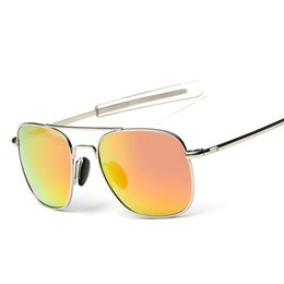 Wholesale Coating Polarized Men Sunglasses With Aluminum Magnesium Frame Fashion Mirror lenses Metal Sun Glasses S406