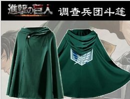 Wholesale Attack on Titan cosplay Cloak Cape Coats Fashion Shingeki No Kyojin Clothes Anime Cosplay Costume The survey corps mantle