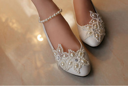 2016 White Five-Pointed Star Pearl Rhinestone Beaded Anklet Wedding Shoes Bridesmaid Shoes Handmade Shoes Woman Flats