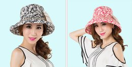 Wholesale Spring and summer travel sun hat blue and white porcelain print cotton women sun hat stree fashion female hat