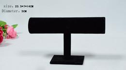2016 Joyero Organizador Livraison gratuite Bracelet en velours noir Bracelet Chaîne Montre T-bar Rack Bijoux Affichage Stand Holder Porps Box Vente en gros à partir de barres autoportantes fabricateur