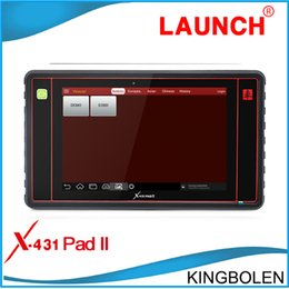 Wholesale 2016 New Arriver Launch X431 Pad II Universal Auto Diagnostic Scanner Launch x PAD2 G WIFI supported Online Update DHL