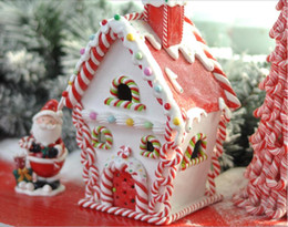 Wholesale Christmas decorations Santa Candy snow house shopping malls store window layout decoration beauty Chen