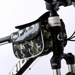 Wholesale Double Oack On The Bike Tube Bag Shockproof Waterproof MTB Front Beam Bag Bicycle Bag Polyster Bicycle Bag Foldable