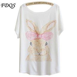 Wholesale 2015 new summer Korean carton Bunny women s hort sleeve t shirt loose tshirts cotton women tee shirts brand buying