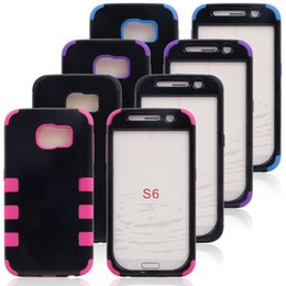 Wholesale Samsung S6 Hybrid Case Points Heavy Duty Durable TPU PC IN Robot Cases For Samsung Galaxy S6 Cell Phone Cases