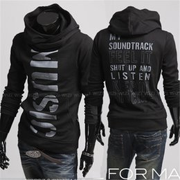 Wholesale Print Alphabet Hiphop Sweatshirts for Men Full Sleeve Hooded Top Hoodies Contrast Color Pullover Sweatshirts T10