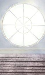 Wholesale 200cm cm ft ft Fundo Wooden Floor Window backdrops backgrounds for photo studio