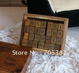 Wholesale-Free shipping,number weather week wood stamp gift set Wood Box,Multi-purpose Decorative stamp,DIY funny work,Wholesale (ss-1114)
