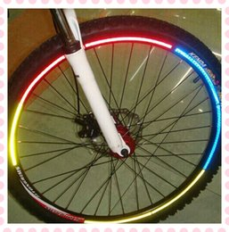 Wholesale Self balancing electric unicycle tires glossy veneer article bicycle reflective wheel reflective stickers