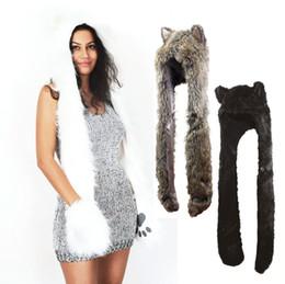 Wholesale S5Q Women Girl Lady Cute Animal Fur Hat Winter Cap Halloween Christmas Gift AAACOX