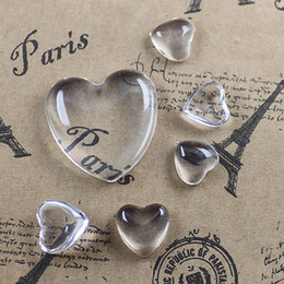 Wholesale mm glass cabochon transparent clear heart shape cameo cover cabs glass spacers glass gem beads diy jewelry cy978