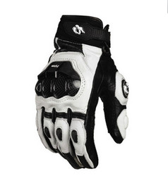 2015 models France Furygan AFS 6 10 top racing gloves motorcycle gloves leather gloves with carbon fiber black white size M L XL