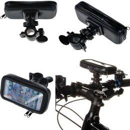 Universal Motocycle Bike Mount Holder Bicycle Waterproof Zipper Leather Case GPS Holder Phone Holder XL Size