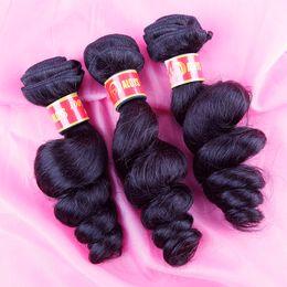 Unprocessed 8A Virgin Brazilian Peruvian Malaysian Indian Cambodian Human Hair Weave Bundles Loose Wave Wavy Soft Full Extensions Can Be Dye