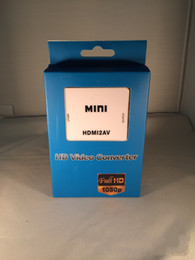 Wholesale New USB Mini HDMI to AV RCA Video Signal CVBS Adapter Converter P P UFS with retail box By DHL