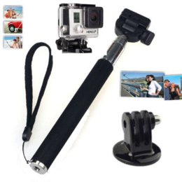 Extendable Handheld SJ4000 GoPro Selfie Monopod Stick With Bluetooth Remote Shutter for iPhone Android Mobile Phone GoPro Camera