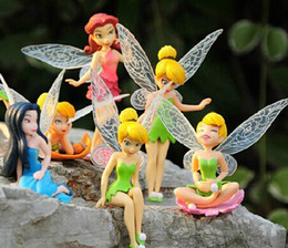 Wholesale Cute boneca cm Tinkerbell dolls Fairy Adorable tinker bell Mini toy flower pretty doll Action Figure brinquedo set