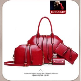Wholesale 2016 Hot Newest Wax oiled Genuine Leather Women Handbag Shoulder Crossbody Bag For Ladies Handbag Messenger Bag Purse Wallet Sets