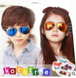 Wholesale-South Korea authentic, 2015 Fashion joker new bright color sunglasses Children's sunglasses girls and boys sunglasses