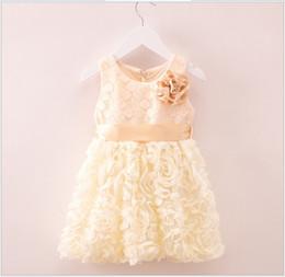 Baby Girls Summer Flower Dress 2018 New Arrival Kids Sleeveless Vest Dress Children Lace Princess Dresses Cute Girl Fashion Dress 2-6T