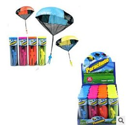 Wholesale Parachute Launcher Sky Diver With Figure Soldier Kids Children Outdoor Sport Play Toy Best Christmas gifts to children