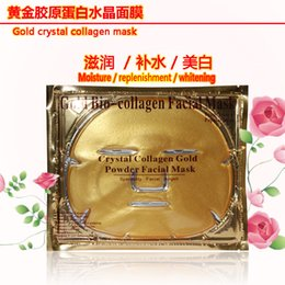 Wholesale 2015 Gold Bio Collagen Facial Mask Crystal Collagen Gold Powder Collagen Facial Mask Facial Angell Moisturizing Anti aging Face Mask