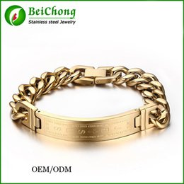 BC Jewelry 18k gold plated bracelets bangles fashion men jewelry jesus cross stainless steel personalized charm man gifts BC-183