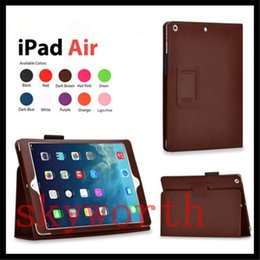 For ipad pro 9.7 Flip Folio PU Leather Case for ipad air 2 3 4 5 6 7 ipad mini Cover stand