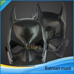 Wholesale 2015 Real Airsoft Bat Mask Black Half face Batman Masks Super Man Spiderman Halloween Hero Knight Makeup Dance Mask Boys Toys