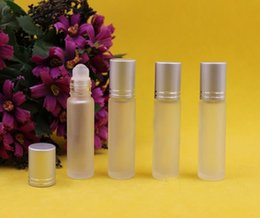 Wholesale 2015 Glass Roll On ml empty Fragrance Perfume essential Oil Refillable Bottles Walk bead glass Refillable Bottles
