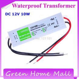 Wholesale-New 2015 DC 12V 10W Waterproof Electronic LED Driver Transformer Power Supply 110V 220V to 12V for underwater light Free ship