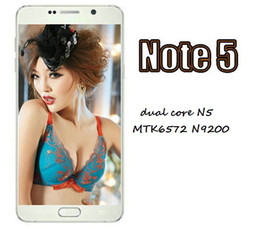 Wholesale DHL freeshipping note5 MTK6572 Mobile Phone Dual Core MB RAM GB ROM Android OS