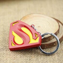 Movie Jewelry Cartoon&Movies Marvel Super Hero Superman Logo Alloy Brand new Keychain 12pcs lot free shipping jewelry keychain
