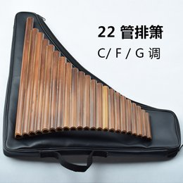 Wholesale Clarinet tube pipe Bitter bamboo flute Ethnic Musical Instruments playing pan flute manufacturer beginner C F G