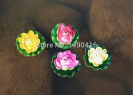20pcs 10cm Small Artificial Lotus Flowers Water Lily For Garden Wedding Decoration diy flowers for decoration