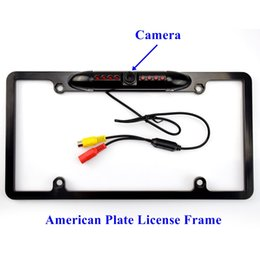 Wholesale Car Rear View Backup Reversing Camera Degree Wide Angle IR LED Night Vision American Plate License Frame
