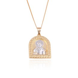 Wholesale Jesus Christ Pattern Pendant Religion Multicolor Jewelry Pendant Xuping Brand Hot Sell Copper Jewelry Pendant For Gifts