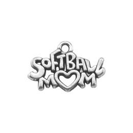 20pcs softball mom gift charm for men