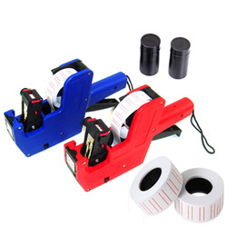 Wholesale 2pcs Price Labeller MX Rolls Label Paper Ink Line Tag Marker Machine Pricing Gun Tool for Retail Super Market