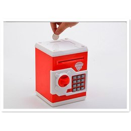 Wholesale Creative ATM Machine Suction Paper Electronic Piggy Bank Color ABS Plastic Money Safe Money Box Donation Box