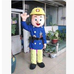 Wholesale Fireman Sam Mascot Costume EVA Party Supply Adult Size Cartoon Mascot Costume For Mardi Gras Party Fancy Dress