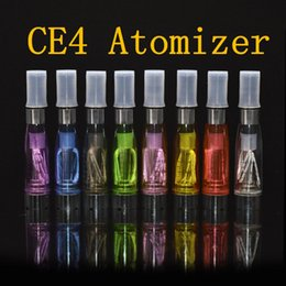 CE4 Atomizers eGO Clearomizer 1.6ml 2.4ohm Vapor Tank E Cigs For E-cig Battery 8 Colors ce4 +ce5 DHL